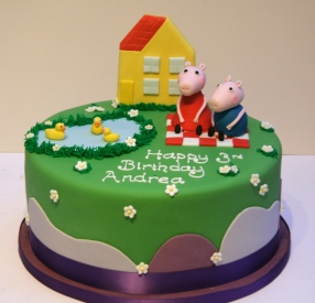 Peppa Pig and George Picnic Cake